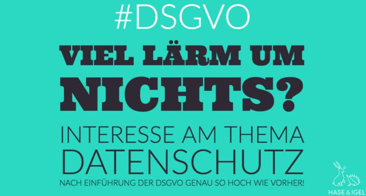 DSGVO – Viel Lärm um nichts?!