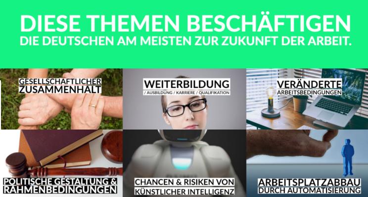 Diese Themen beschäftigen die Deutschen bei Arbeit 4.0