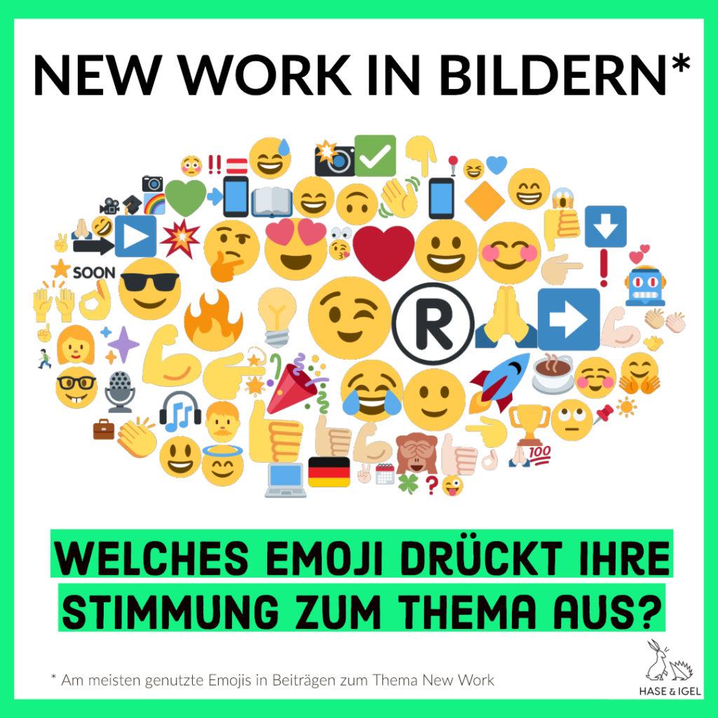 Genutzte Emojis in Bezug auf New Work